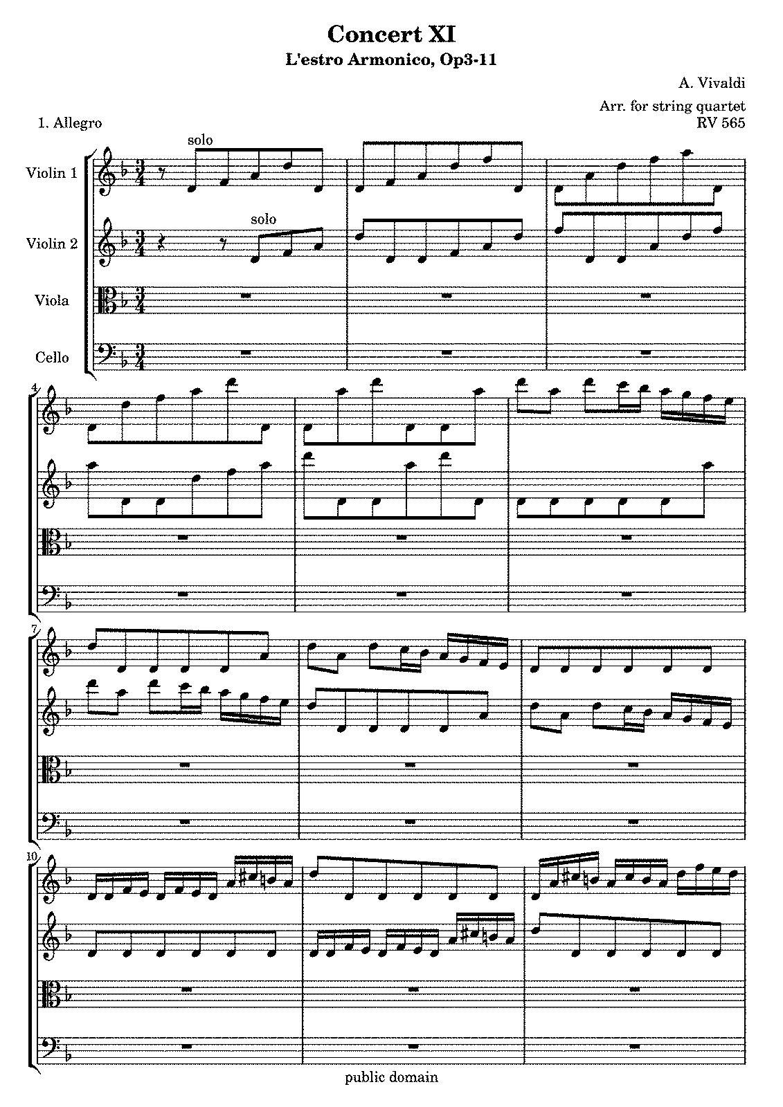 Free Sheet Music 2 Violins Cello