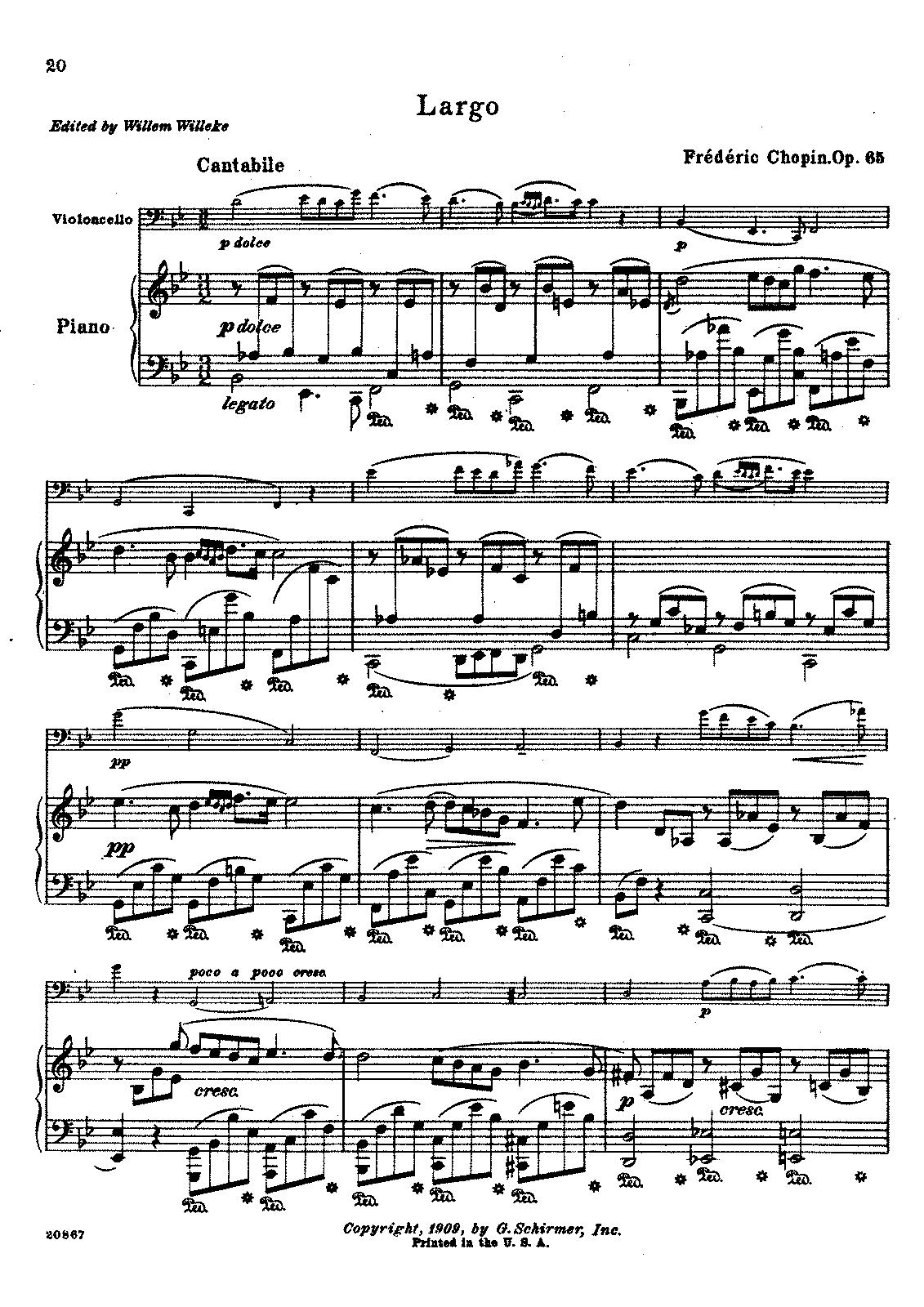 Chopin, op. 65/III