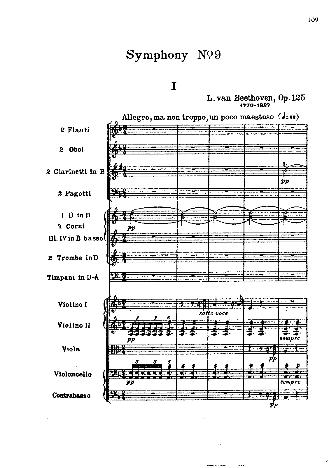 Beethoven Symphony 9 Piano Sheet Music
