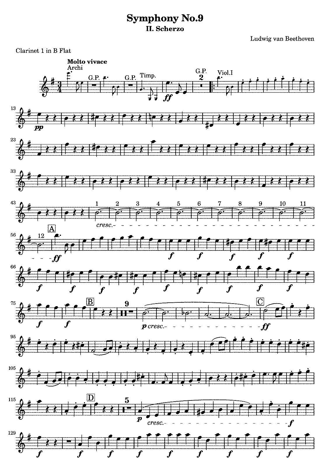 Beethoven 9th Symphony Piano Sheet Music Free