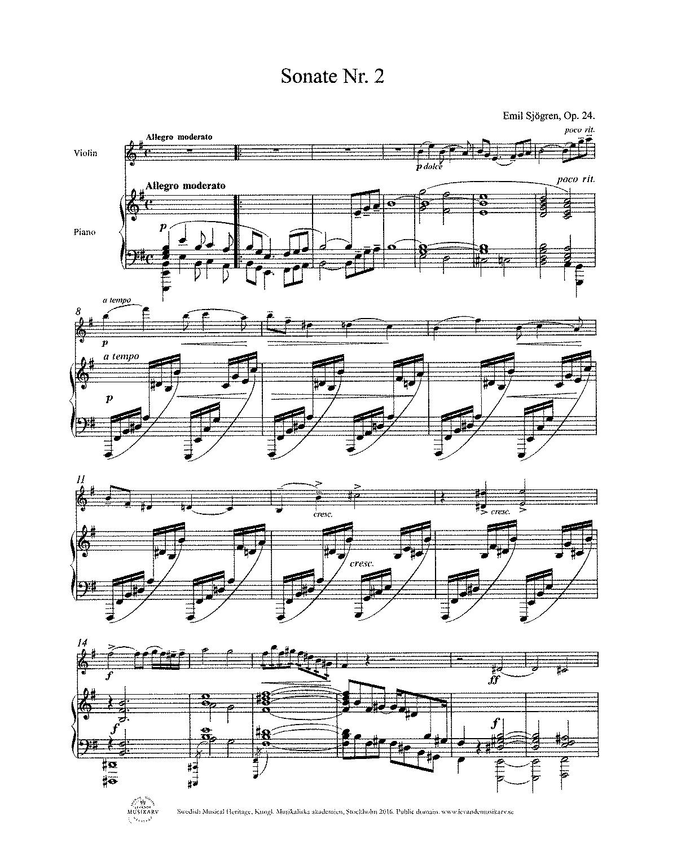 Sjögren, op. 24