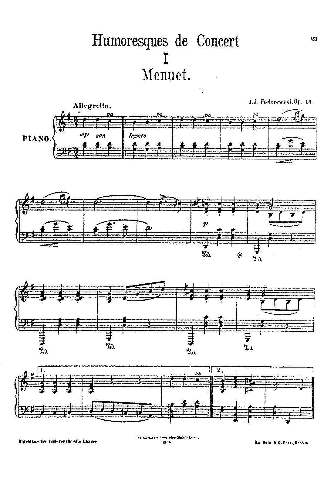 Paderewski, op. 14 n, 1
