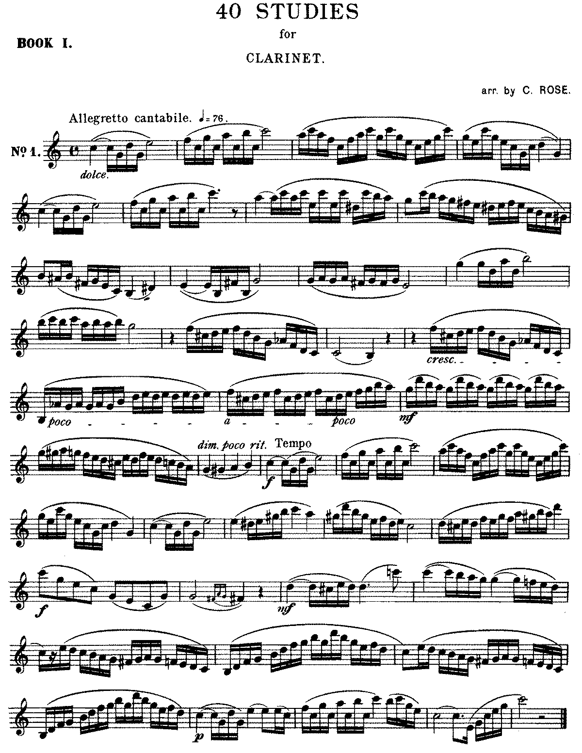 Clarinet Scales Sheet Music