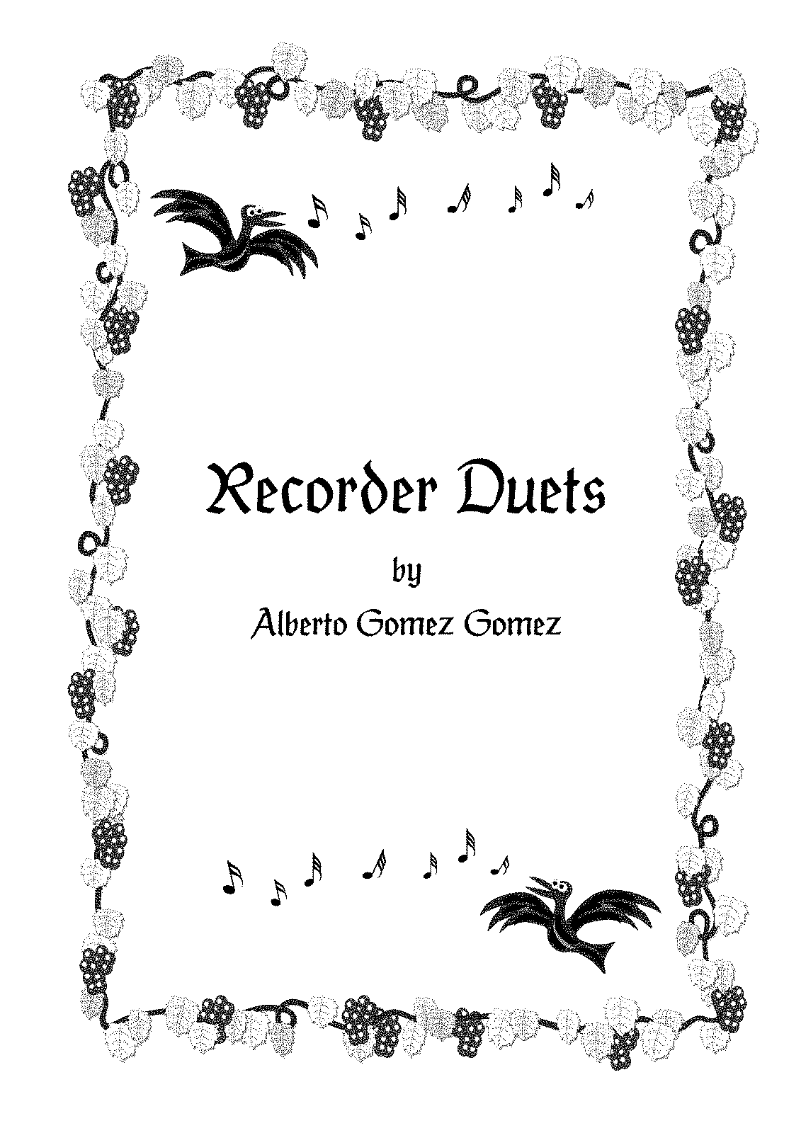 Free Sheet Music Recorder Duets