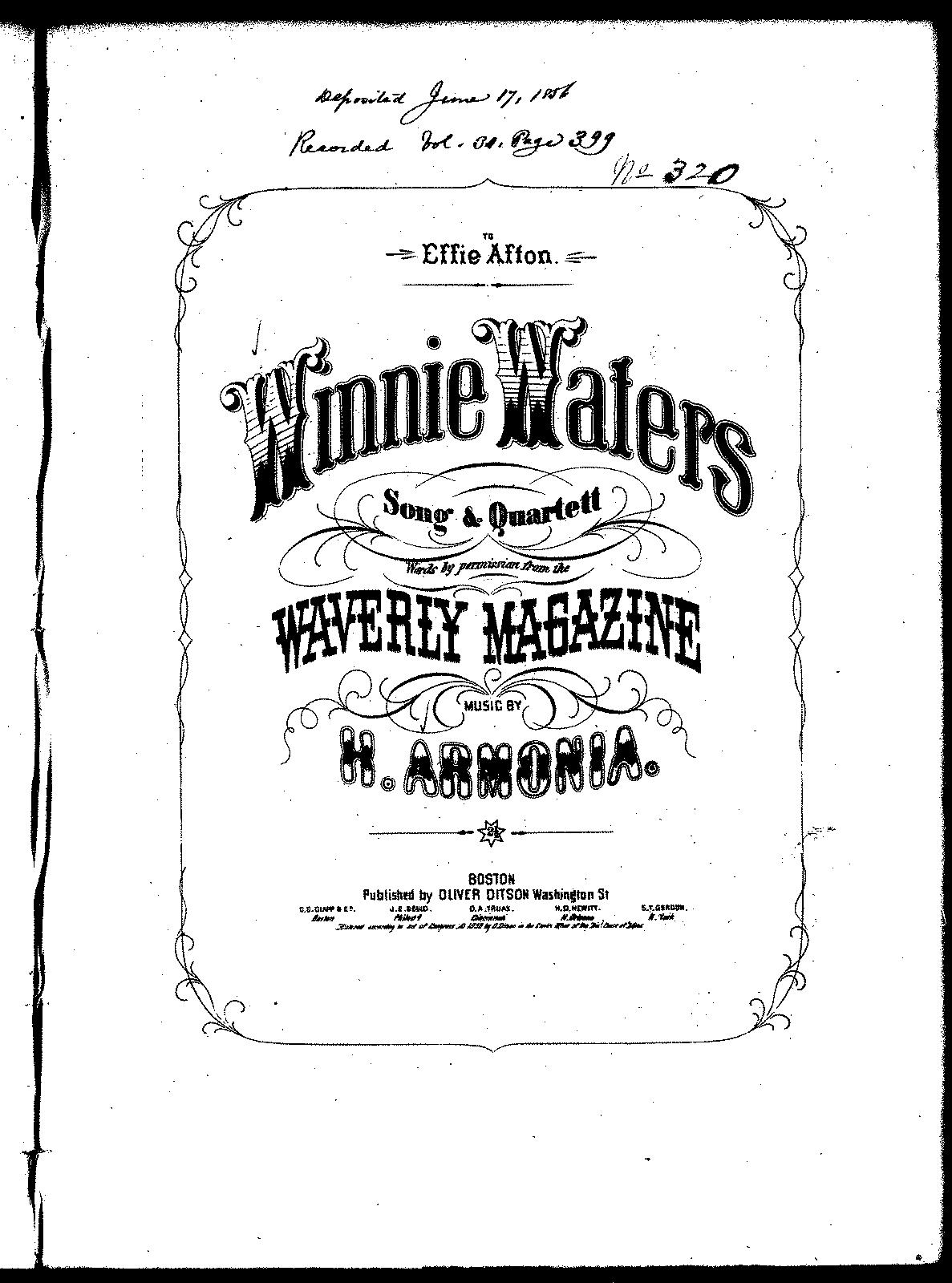 Winnie Waters Armonia H