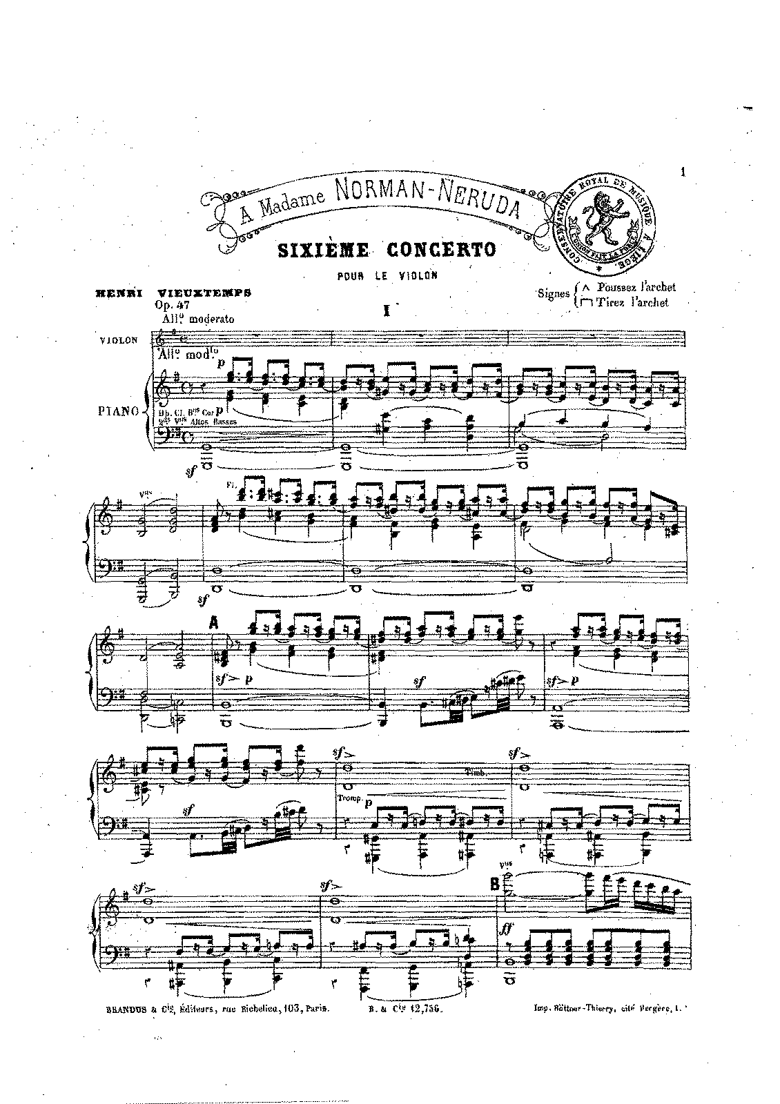 Vieuxtemps - Sesto Concerto 1