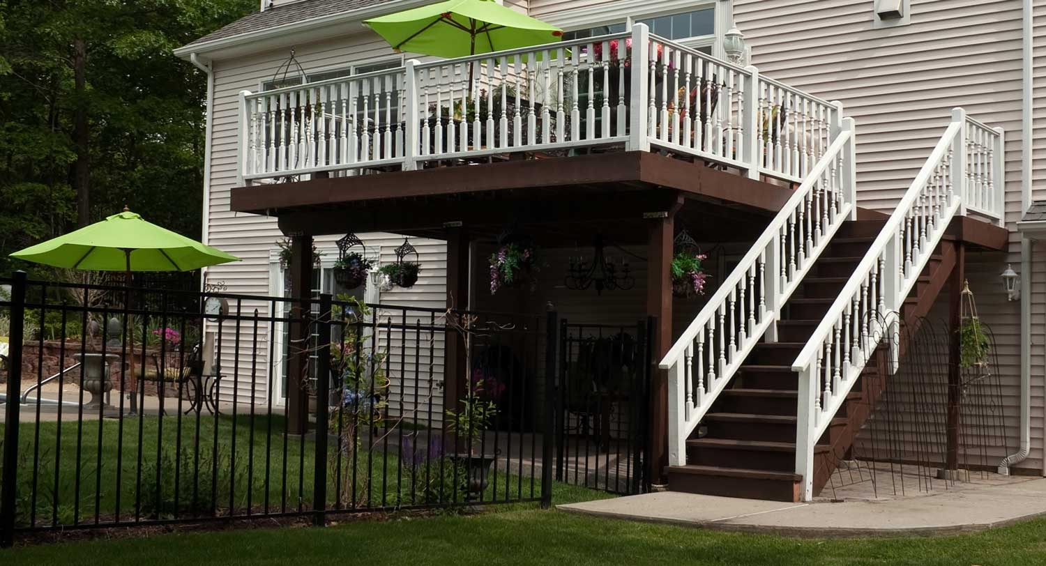 Cost To Add Deck Stairs 2020 Price Guide Inch Calculator | Wooden Handrail For Garden Steps | French Door Garden | Garden Stair | Landscape | Outside Step | Outdoor Near Me Step