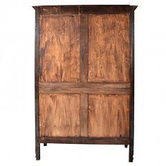 antique french provincial oak louis xv mirrored door armoire wardrobe 163835