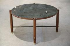 jules leleu beechwood and eglomise gueridon cocktail table 755476