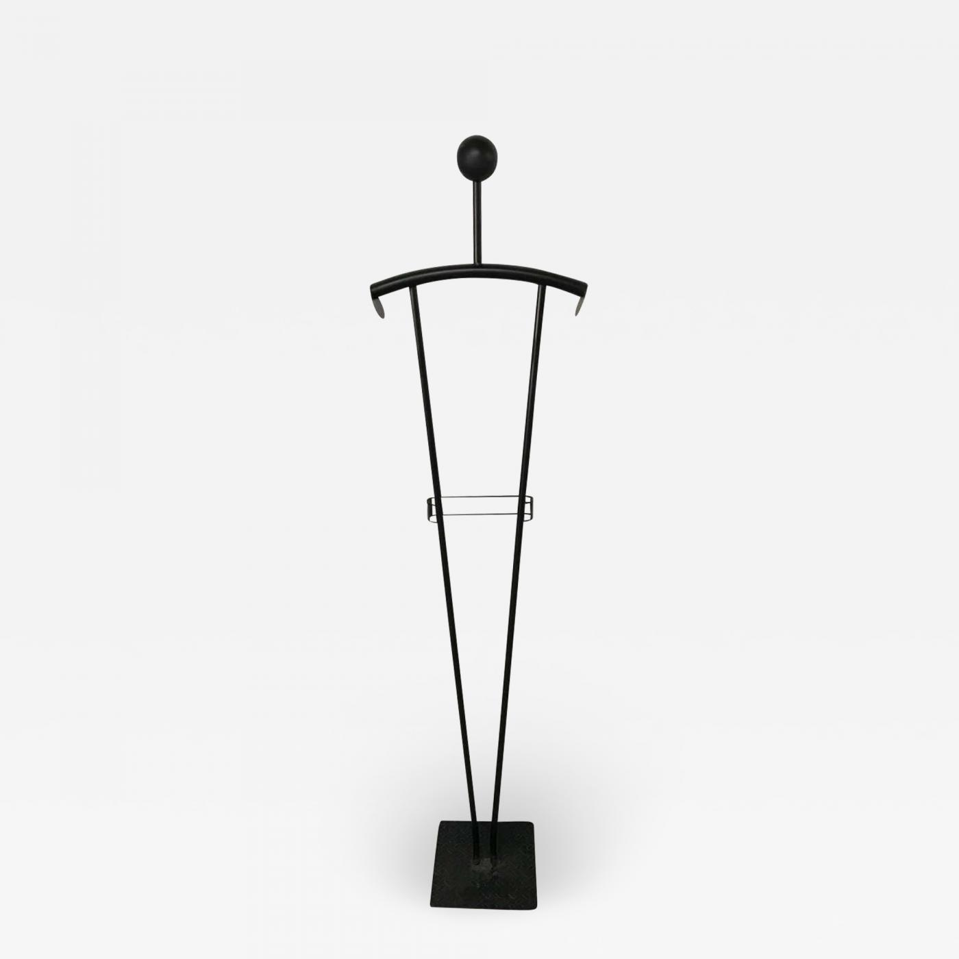 memphis design struttura due post modern figural valet stand or coat rack