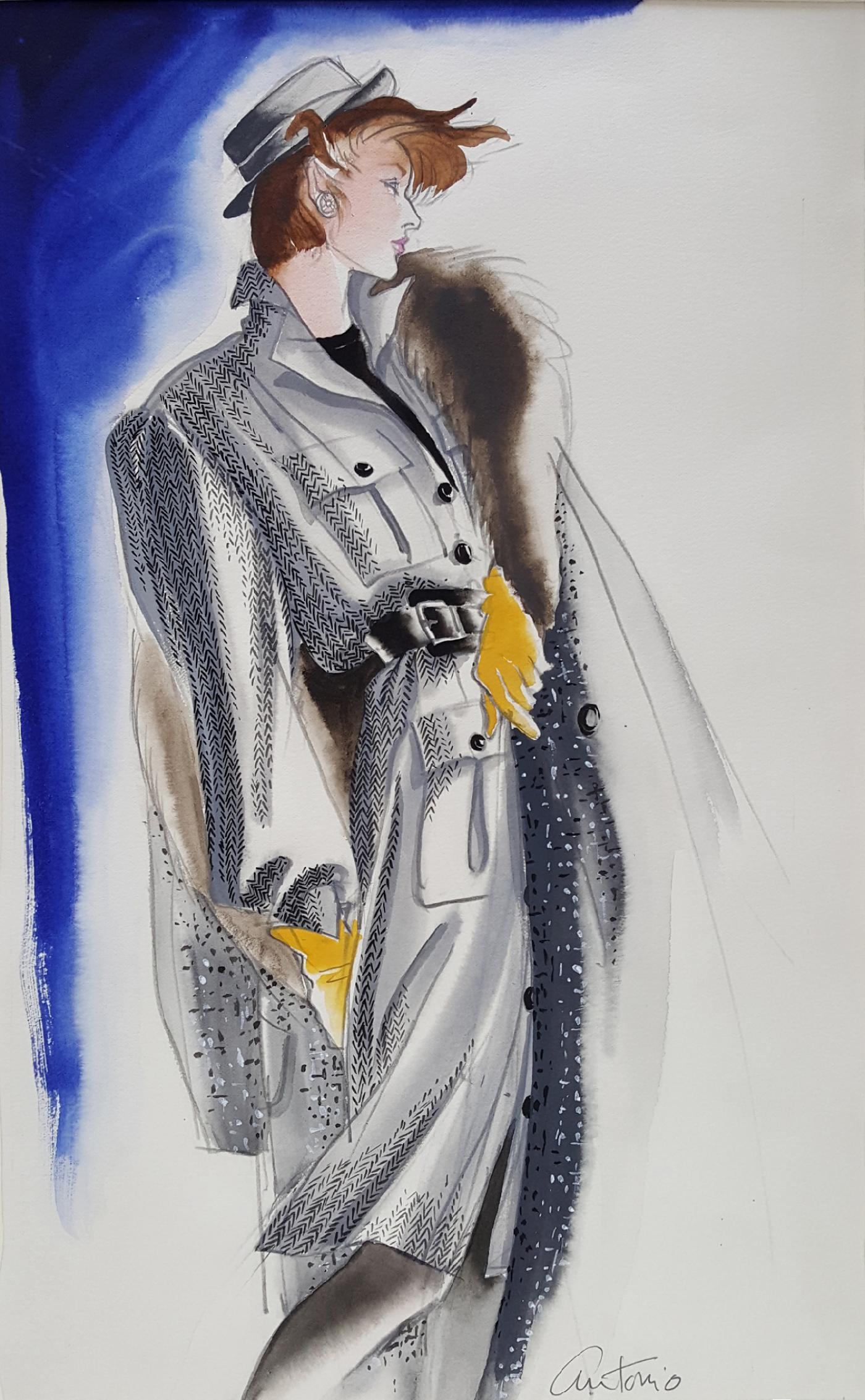 Antonio Lopez Vogue Magazine Fashion Illustration Adel Simpson 1984