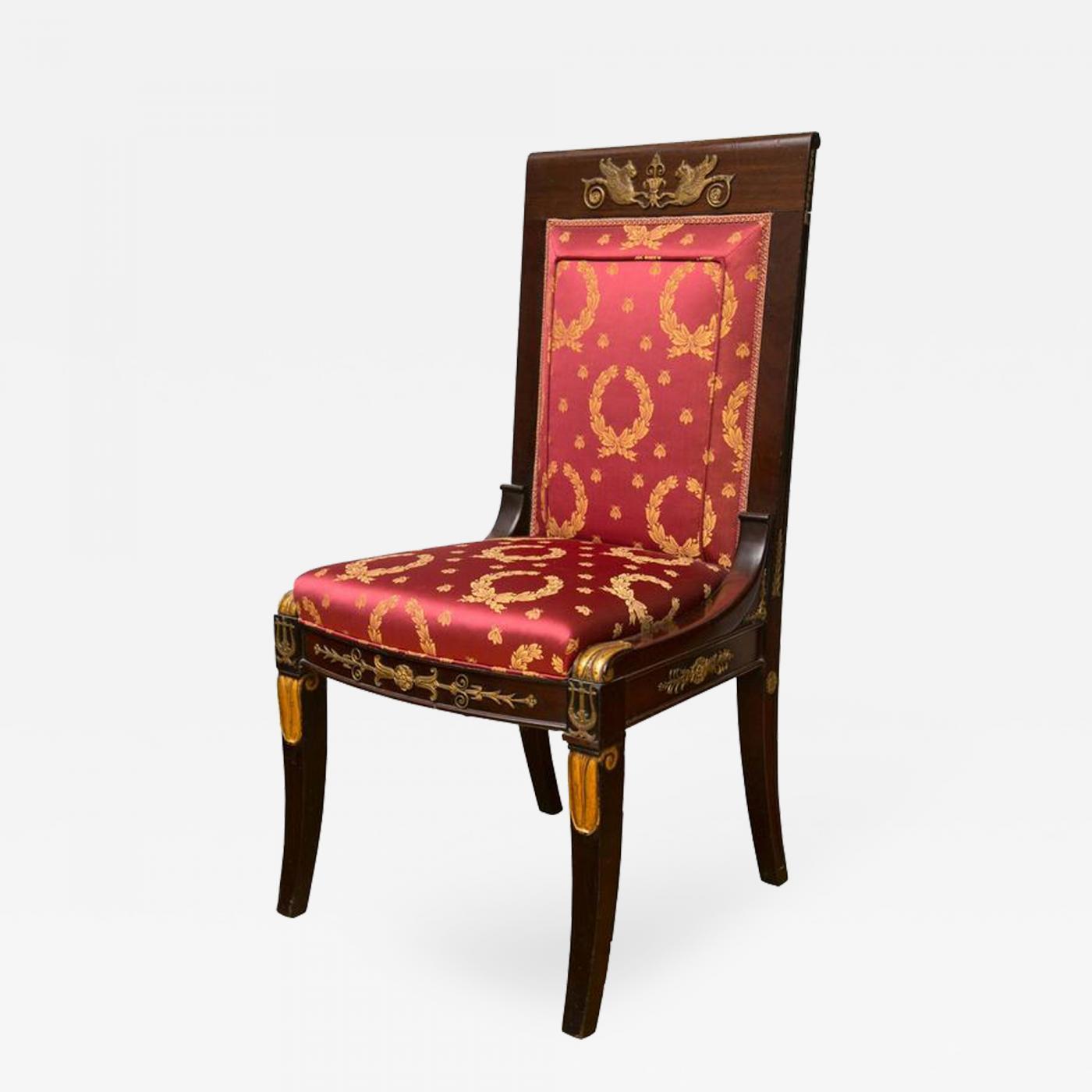 French Empire Period Mahogany Girandole Chair