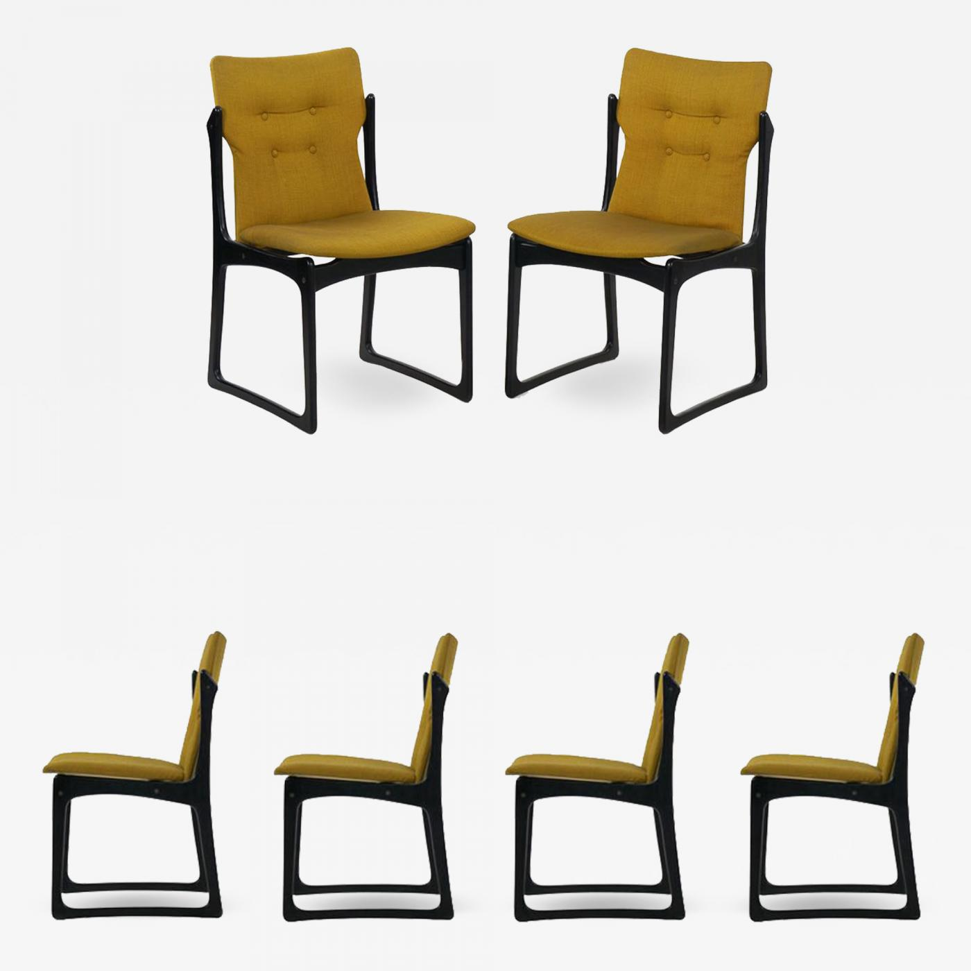 Vintage Set Of Six Danish Mid Century Modern Dining Chairs By Stolefabrik