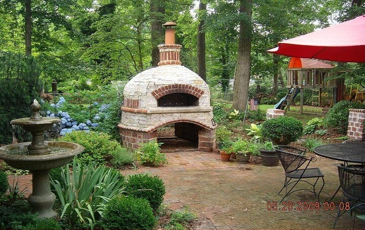 Outdoor Brick Ovens • Insteading on Outdoor Patio With Pizza Oven  id=29126
