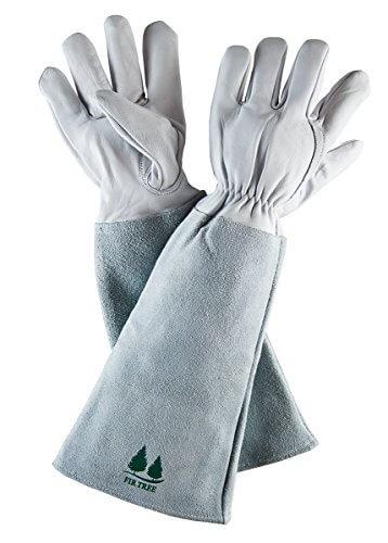 Fir Tree Goatskin Leather Gardening Gloves • Insteading