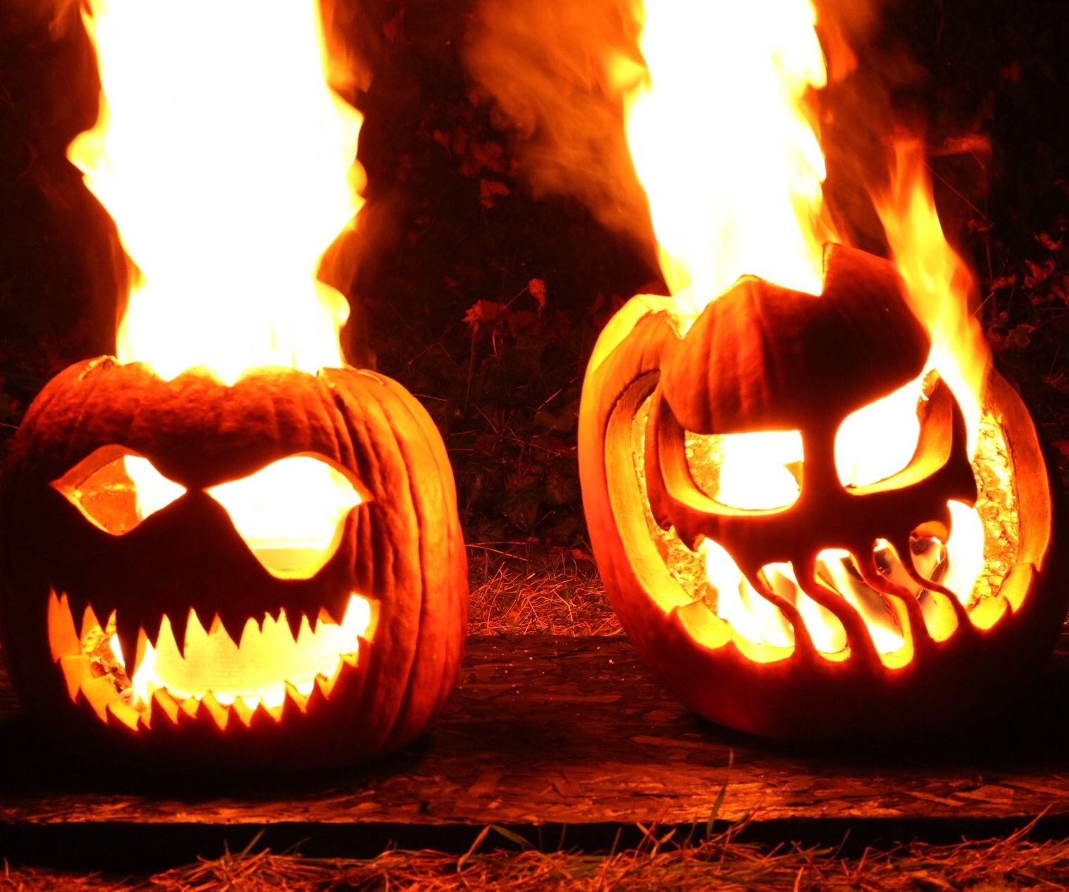 Flaming Halloween Jack O Lanterns 6 Steps With