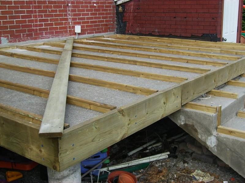 Building A Wooden Deck Over A Concrete One 6 Steps With   Building Wood Steps Over Concrete   Stoop   Existing Concrete Porch   Concrete Slab   Front Porch   Composite Decking