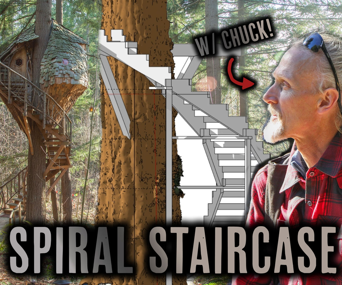 Treehouse Winding Staircase 5 Steps With Pictures Instructables   Spiral Staircase Around Tree Trunk   Stair Case   Nelson Treehouse   Staircase Design   Robert Mcintyre   Canopystair