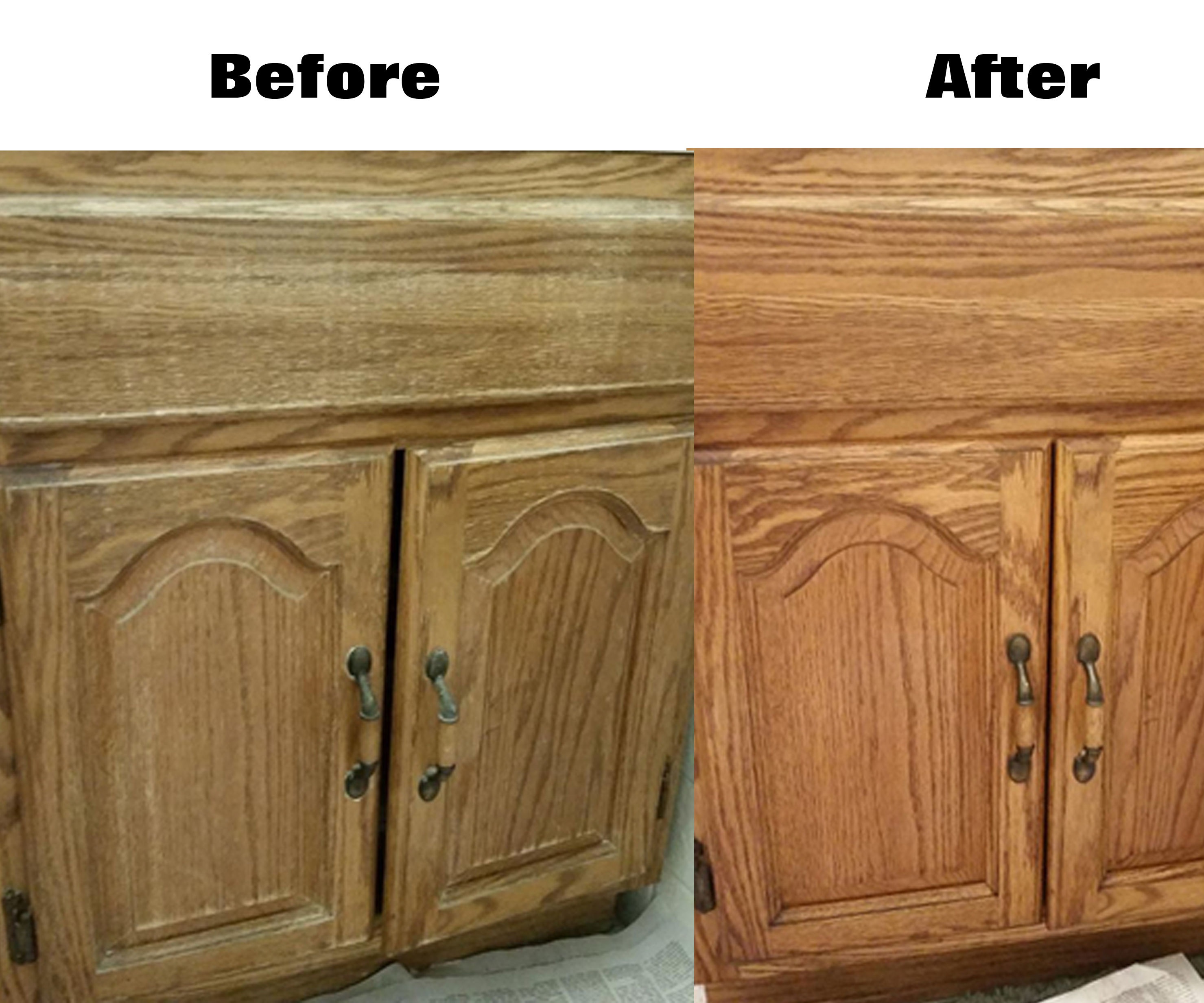 Easily Renew Wood Cabinets Without Actually Refinishing 6