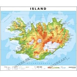 The hamakua coast , hilo , puna , kau , kona and kohala. Island Karte Physikalisch 100 X 83cm