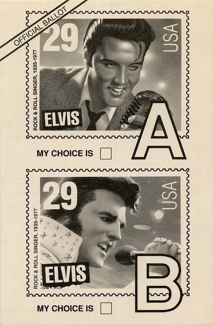 Image result for us post office elvis ballot