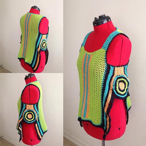Crocheted sweater vest