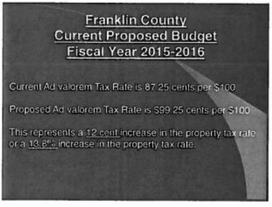 Petition A Petition for NO Property Tax increase in ...