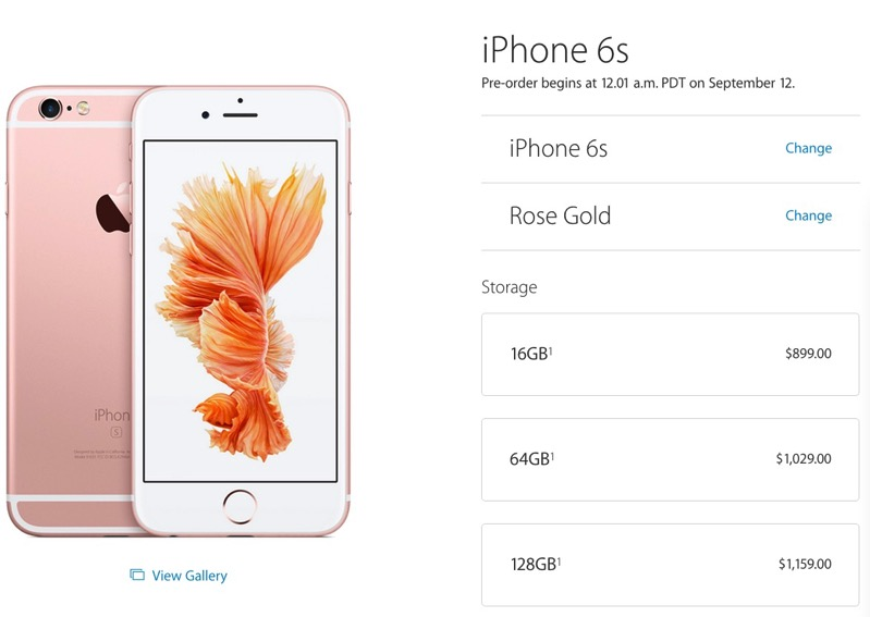 Canadas Unlocked Iphone 6s Pricing Starts At 899 Preorder