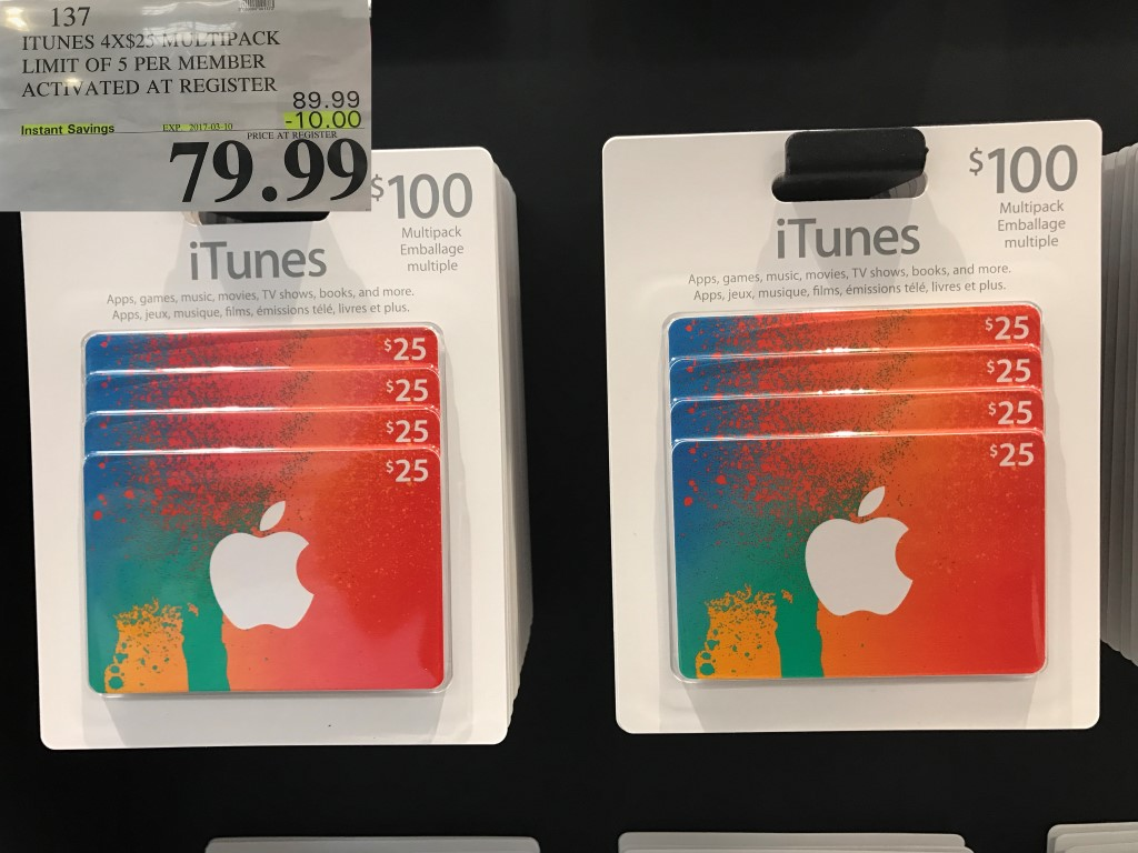 Costco Has $100 iTunes Cards for 20% Off Again   iPhone in ... on Costco Phone Deals id=70158
