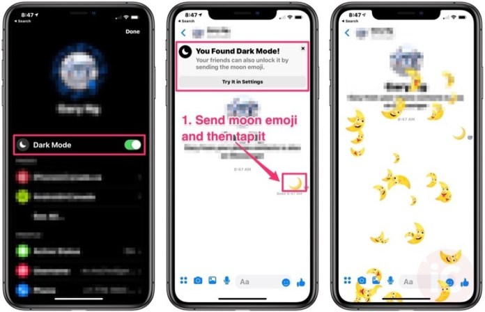 How To Enable Hidden Dark Mode In Facebook Messenger On Ios Iphone In Canada Blog