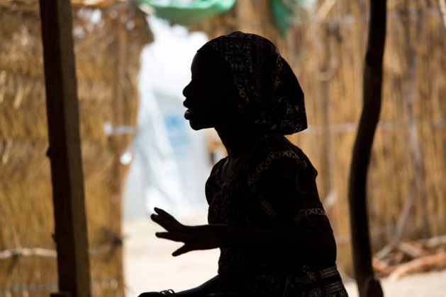 This 15 year-old Nigerian refugee at the Minawao refugee camp in northern Cameroon, was abducted by Boko Haram and spent four months in captivity. Photo credit: UNICEF/Karel Prinsloo