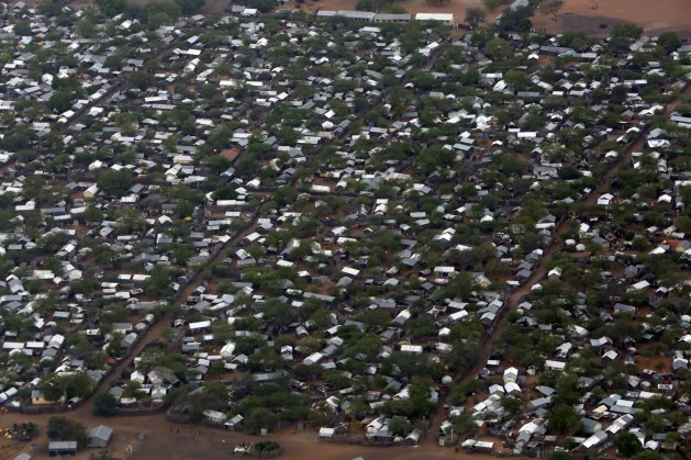 An aerial view of the Ifo 2 Refugee Camp in Dadaab, Kenya. Credit: UN Photo/Evan Schneider.