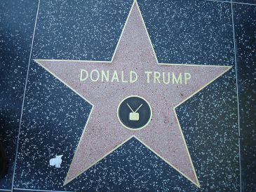 Donald Trump's star on the Hollywood Walk of Fame. Credit: Neelix. Wikimedia Commons.