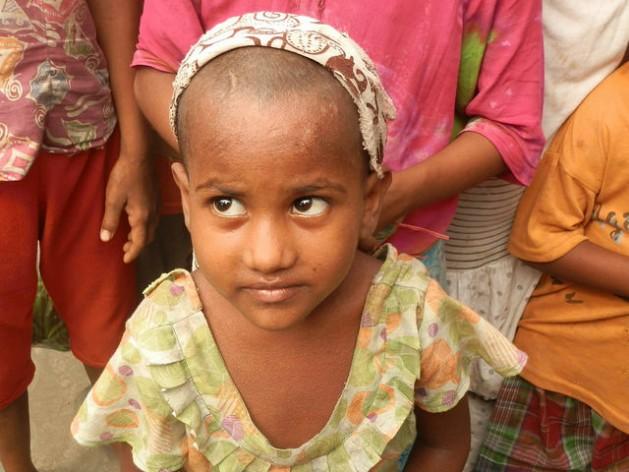 A young girl in Aung Mingalar Muslim ghetto in Sittwe, Rakhine state, Myanmar. Credit: Sara Perria/IPS