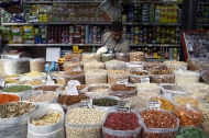 Pulses for sale at Rome's Esquilino market. Photo: Courtesy of FAO