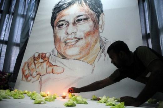 The 2009 murder of prominent editor Lasantha Wickrematunge sent shock waves through Sri Lankan media circles. Credit: Amantha Perera/IPS