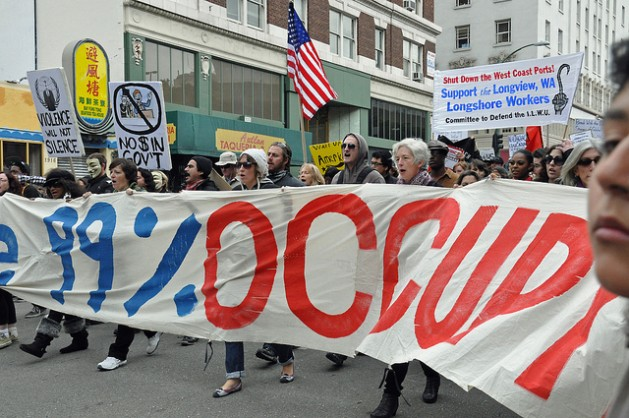 The Occupy movement is one example of citizen-led disruption. Credit: Judith Scherr/IPS.