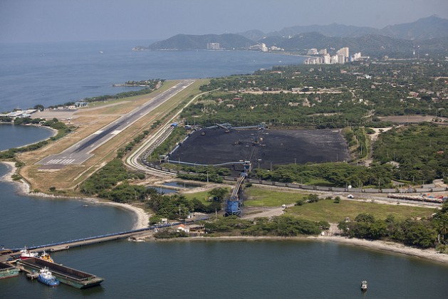 Coal mining company Prodeco's port terminal in the Caribbean city of Santa Marta. Credit: Juan Manuel Barrero/IPS