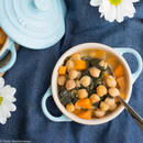 Spanish chickpea & spinach stew. This Spanish chickpea & spinach stew is a perfect and satisfying meal, original from Andalusia (Spain). A very rich and nourishing dish that is perfect for lunch or dinner. Credit: FAO