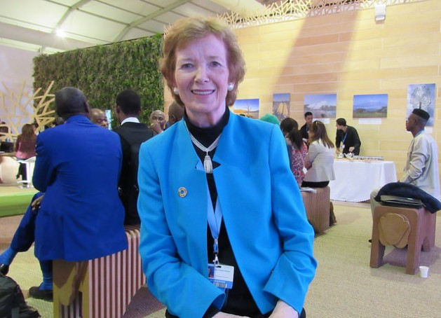 Mary Robinson, the U.N. special envoy on El Niño and Climate. Credit: Fabiola Ortiz/IPS