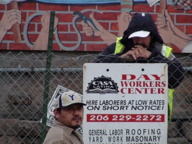 Waiting for work at the Day Workers Center in Seattle, Washington. The new Trump administration promises 'tough and fair agreements' on trade, to revive the US economy and create millions of jobs. Credit: IPS