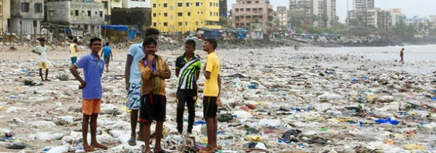 The world's largest beach clean-up in history on Versova beach in Mumbai, India. Credit: UNEP