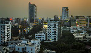Dhaka grew into a metropolitan area with a population of more than 15 million and the world's 3rd most densely populated city. Credit: Ahnaf Saber. Creative Commons Attribution-Share Alike 4.0 International license.