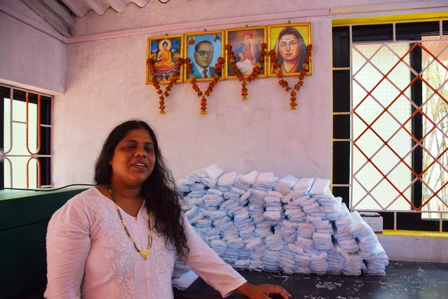 Jayashree Parwar and her partners have been making plastic-free sanitary pads in Goa, and have sold them to clients in the India's cities like Mumbai, Pune, Bangalore, Hyderabad and New Delhi. Credit: Stella Paul/IPS