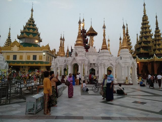 Shwedagon pagoda in Yangon, Myanmar (file photo). On the morning of Feb. 1, Myawaddy — an army-owned TV channel — announced the coup just hours before the opening session of parliament. It announced a one-year state of emergency and the handing over of power to military chief Min Aung Hlaing. Credit: Stella Paul/IPS