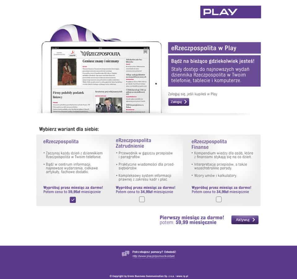 Landingpage Play