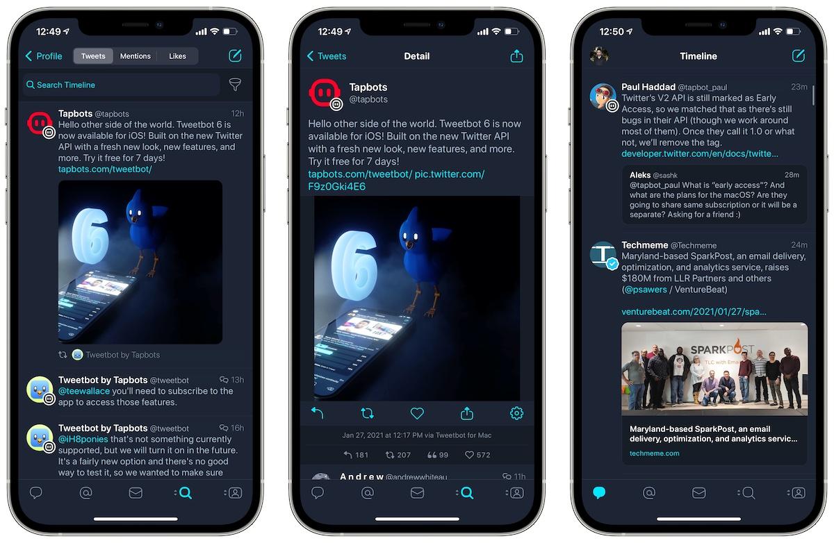 Tweetbot 6 Приложение Twitter для iOS