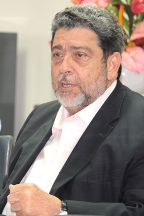 Prime Minister Dr. Ralph Gonsalves Speaking At The Press Conference In Kingstown Last Week.