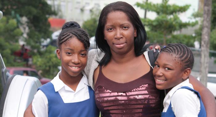 Shanelle Daniel, Her Mom, Michelle James, And Friend Roshena John. (Iwn Photo)