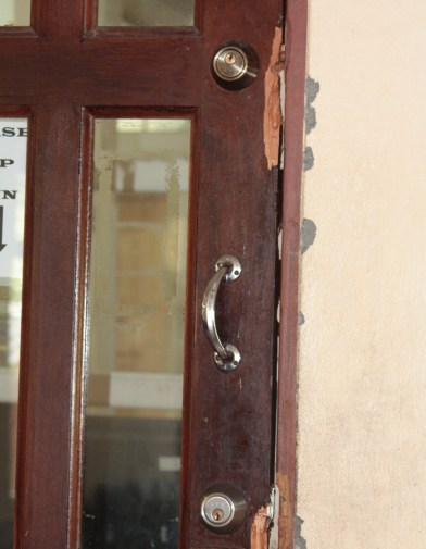 The Burglars Broke The Locks Off This Door To An Office Inside The Building. (Iwn Photo)